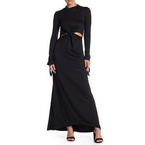 Go Couture Black Long Sleeve Cutout Maxi Dress